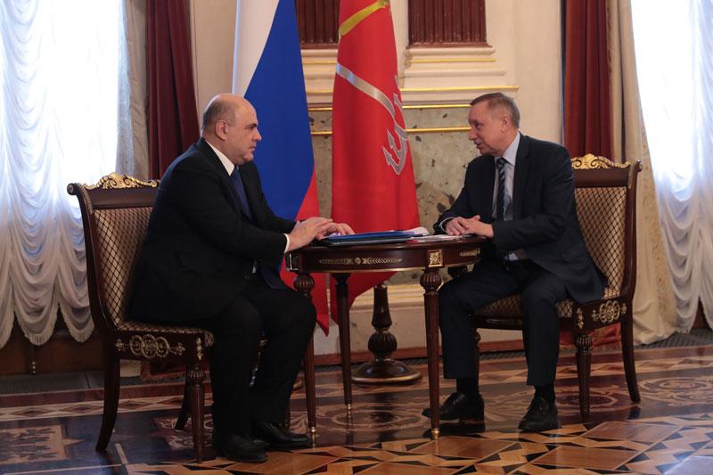 Состоялась двусторонняя встреча Михаила Мишустина и врио губернатора Санкт-Петербурга Александра Беглова