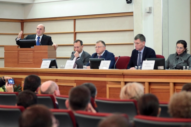Михаил Мишустин подвел итоги работы налоговых органов за 10 месяцев 2019 года на праздничной коллегии